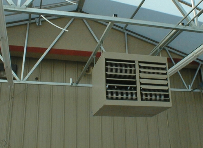 Propane Radiant Heater >> Linx Greenhouse Systems :: Forced Air Heaters